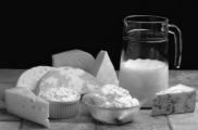 Диета при запорах - молочные продукты