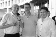 С автором ТМЕ, проф. Bill Heald, Великобритания, и проф. F. Seow-Choen, Сингапур.