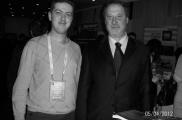 С профессором Mario Pescatory - президентом Евроазиатской Ассоциации Колоректальных Технологий
